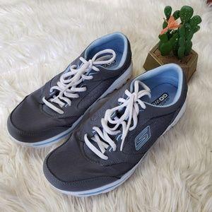 SKECHERS GO gray walking shoes 10